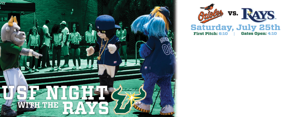 USF Night with the <br>Rays, July 25