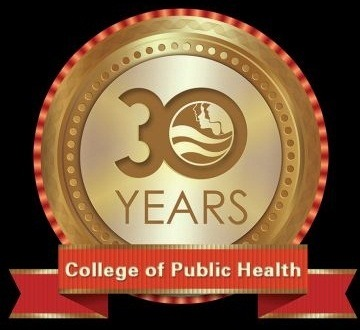 Logo for USF College of Public Health 30th anniversary