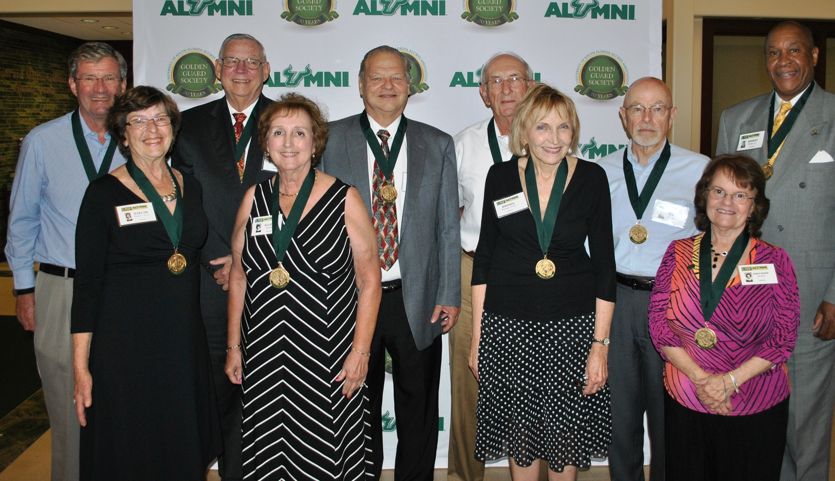 10 members of the USF class of 1965 at 50th reunion