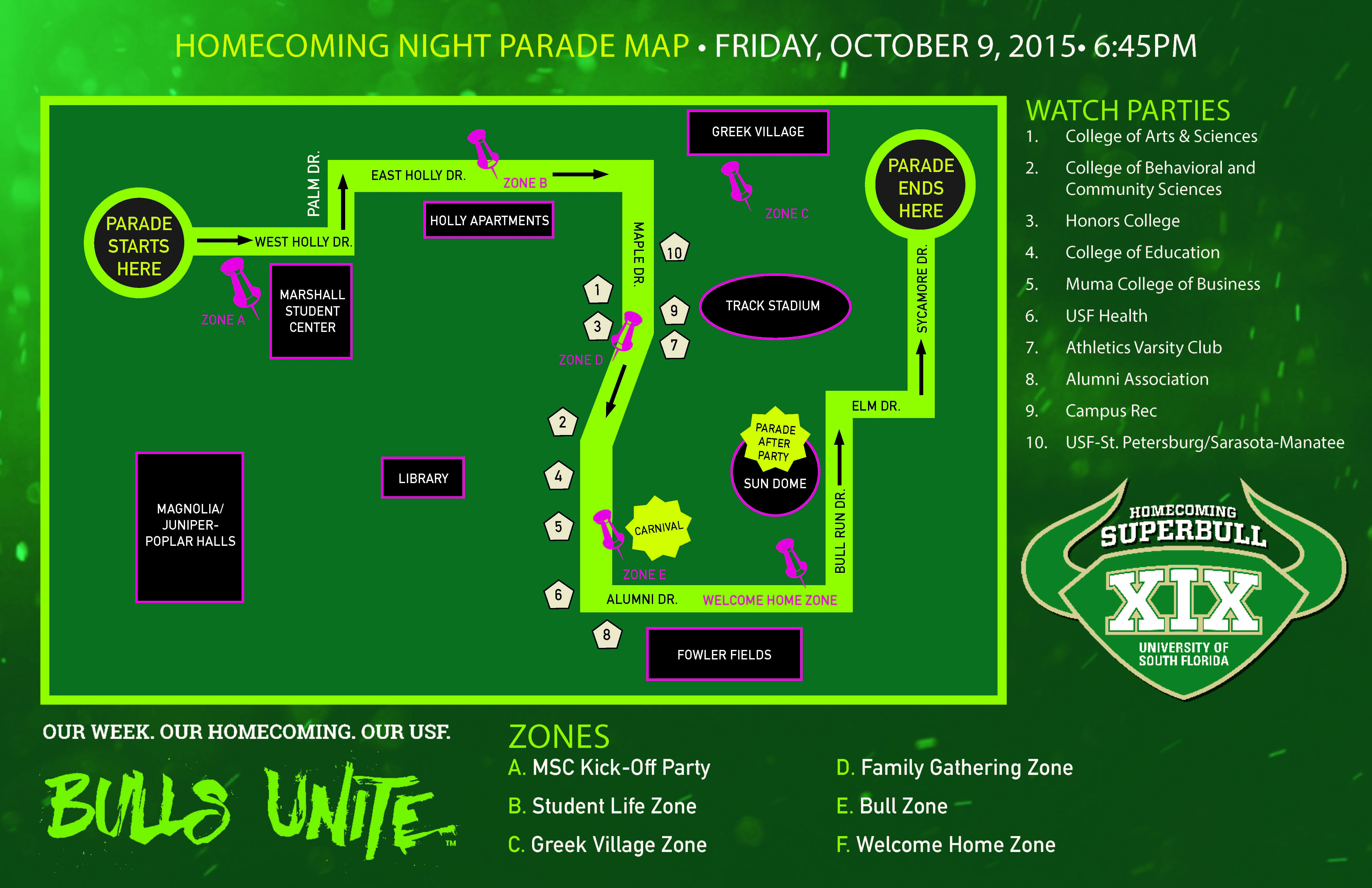 Homecoming 2015 Parade Route