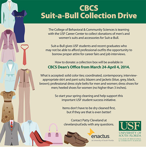 Usf Alumni Donate Your Business Attire To Suit A Bull