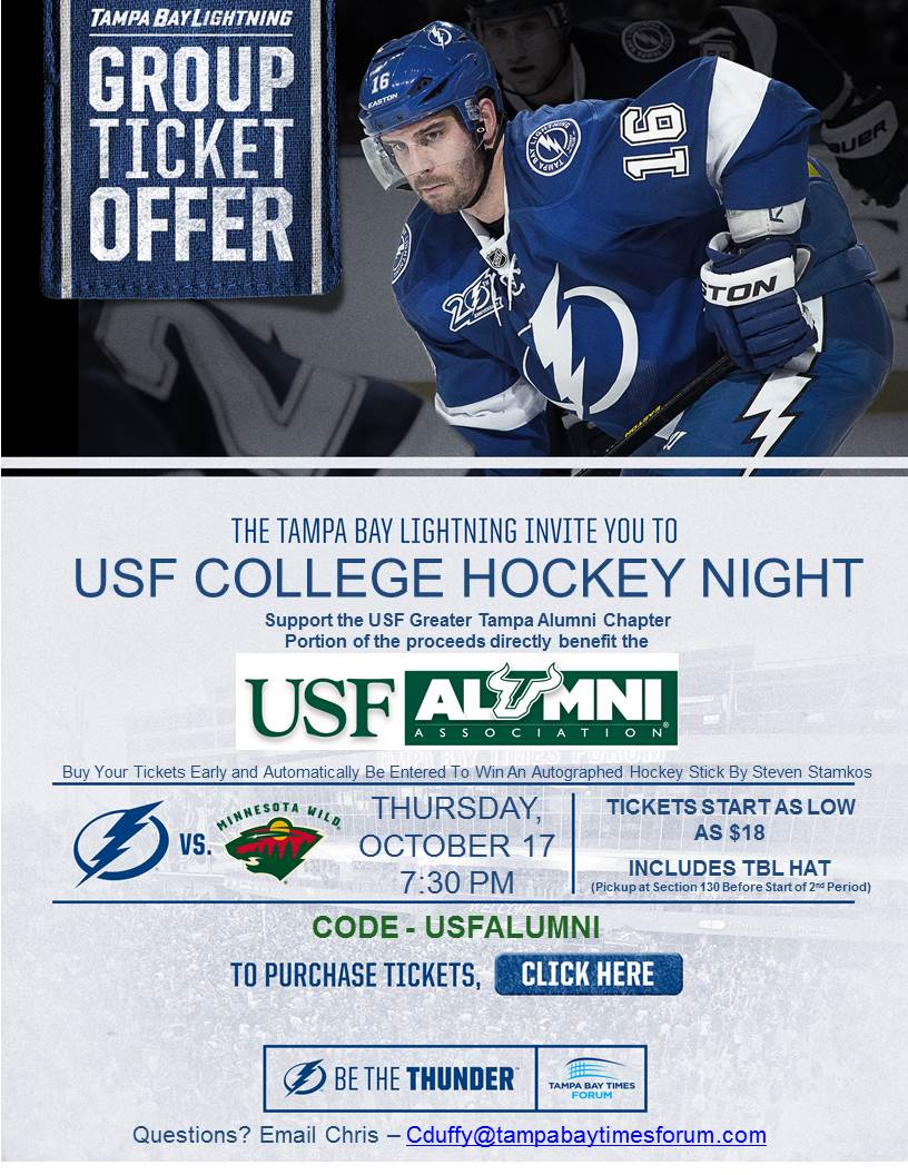 usf alumni greater tampa chapter lightning game and social
